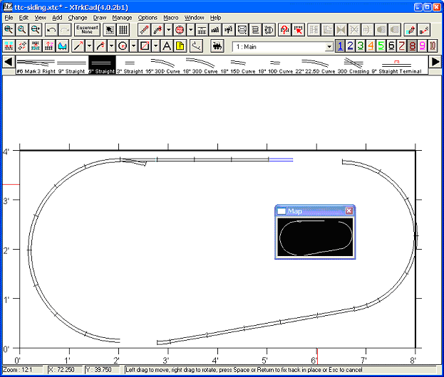 Add Straight Track - Step 1